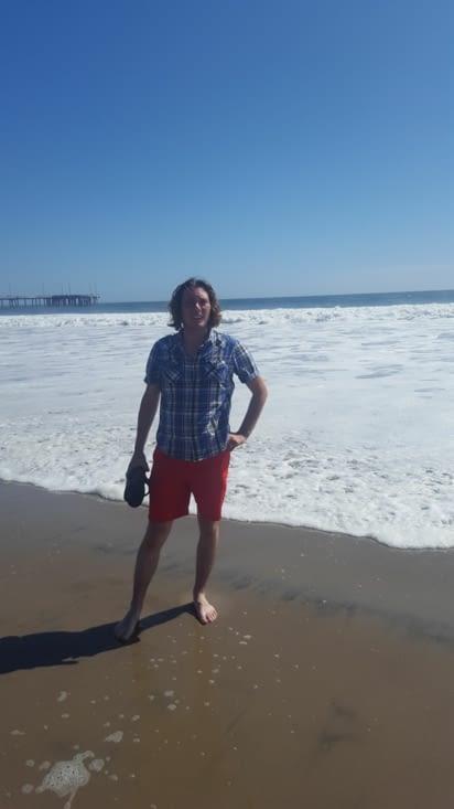 L'océan pacifique avec des énormes vagues