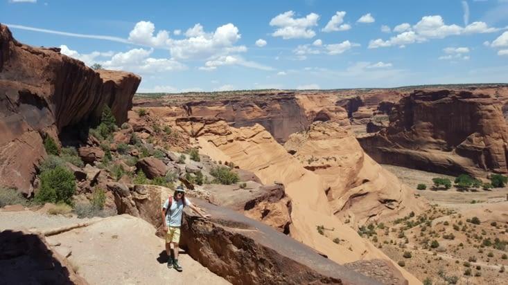 La descente du canyon