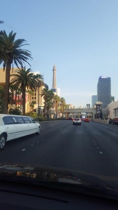 Arrivée sur le strip de Las Vegas