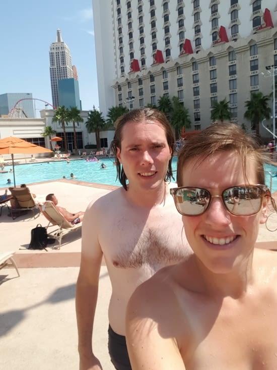 Ce matin c'était piscine 😎