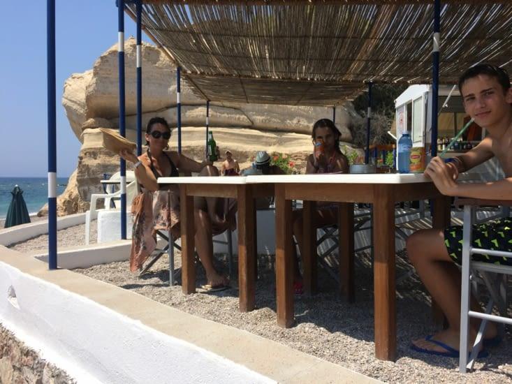 Pause dej à la plage