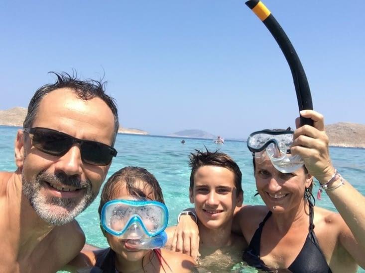 Nous 4 à la plage
