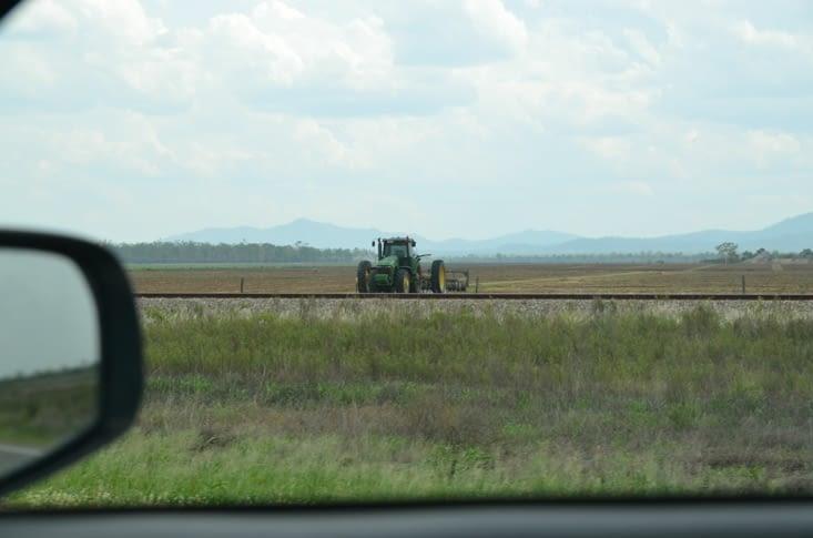 On the road : oui ici tout est démesuré, même les tracteurs !