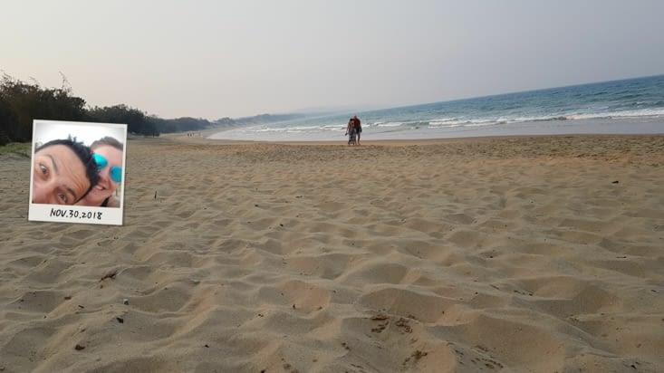 Sur la plage d'Agnes Water