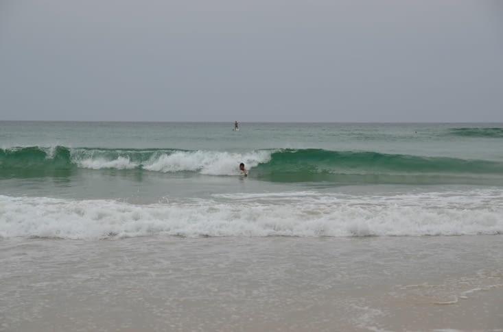 Petite session de body surf pour Mathieu !
