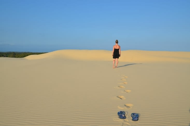 Les dunes à perte de vue