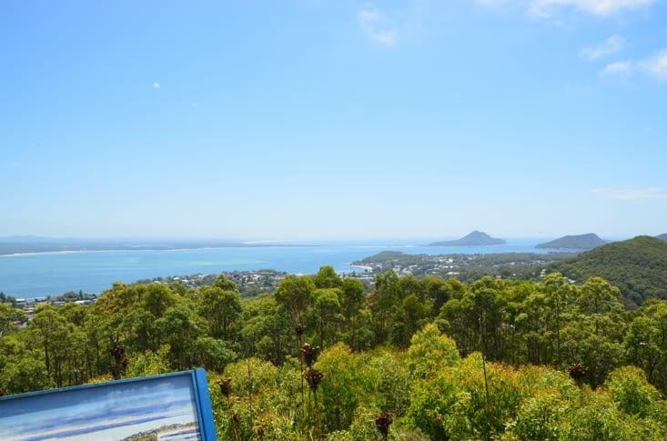 La vue sur Nelson Bay