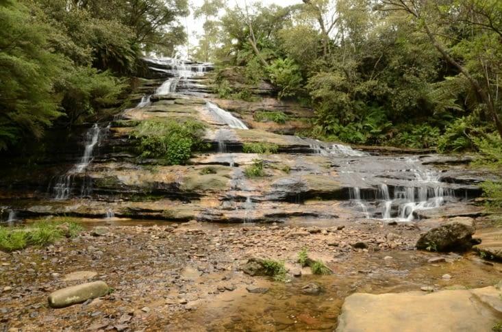 La partie haute des chutes de Katoomba