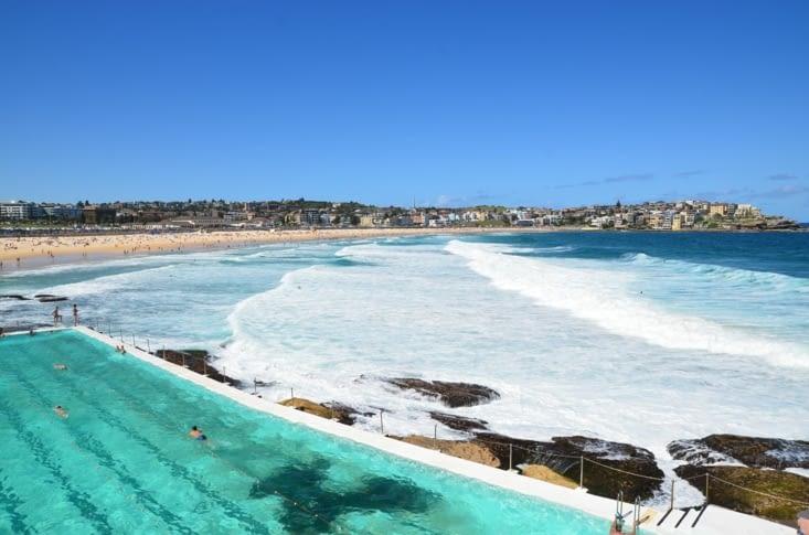 La plage de Bondi beach et les piscines des icebergs !