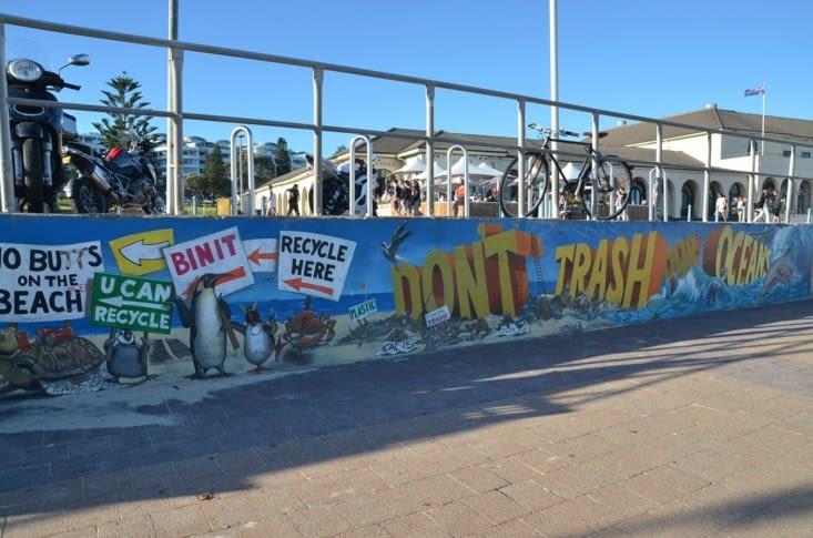 Une des fresques du street art de Bondi