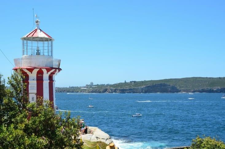 Le phare Hornby, à la pointe de la peninsule