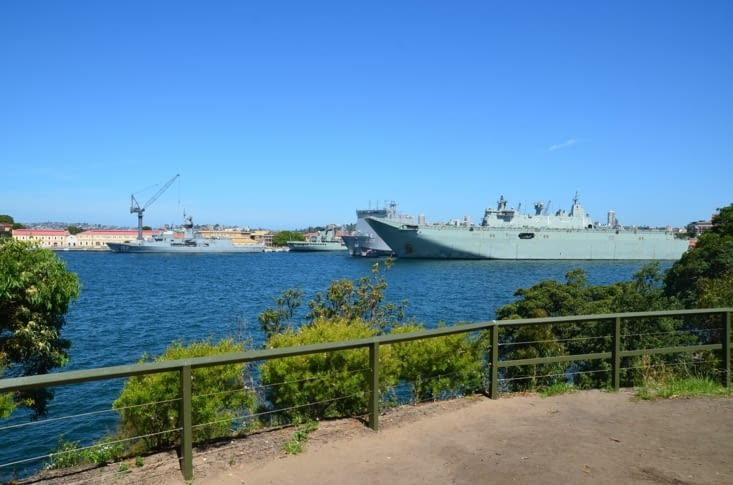 Les navires de l'armée