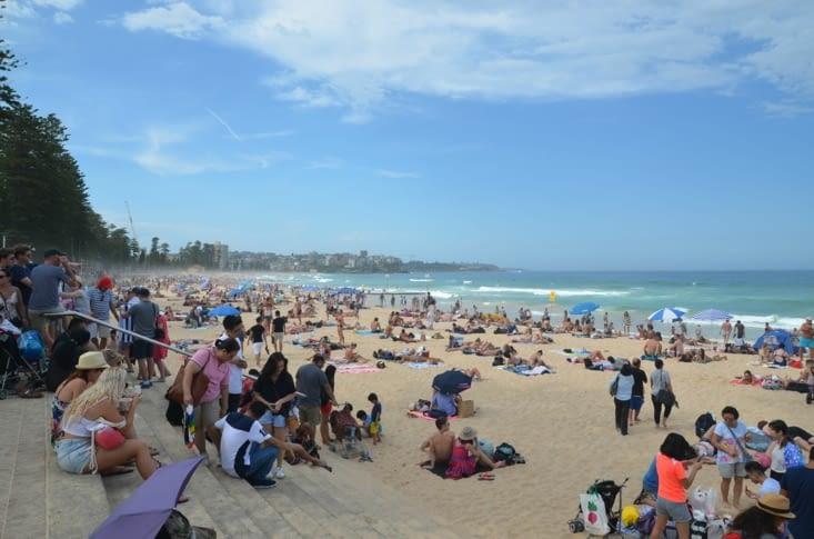 La plage pleine de monde !