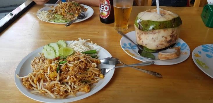 Les fameuses Pad Thaï ! A défaut de grimper on aura au moins bien mangé !