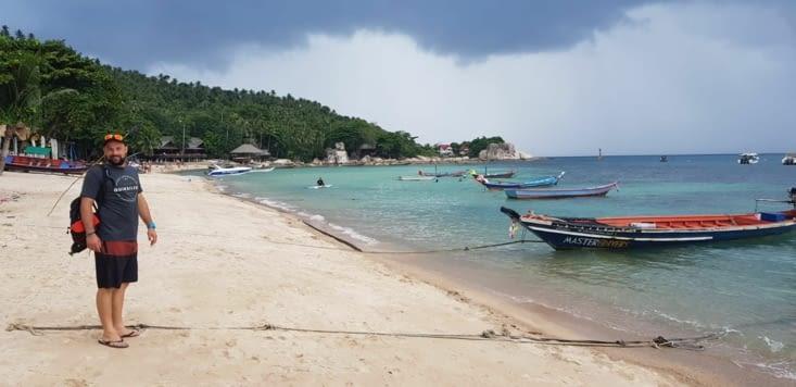 Première photo sur la plage de Ko Tao