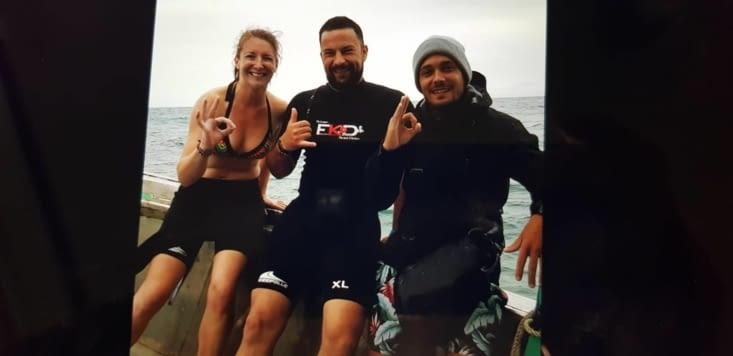 De retour de plongée avec Jordan notre instructeur !