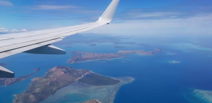 Vue aérienne de la Nouvelle Caledonie !