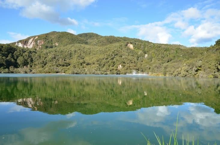 Dernier panorama sur le lac fumant !