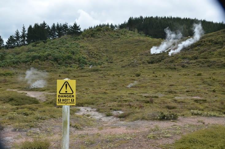 Les cratères fumants du site : «craters of the moon»