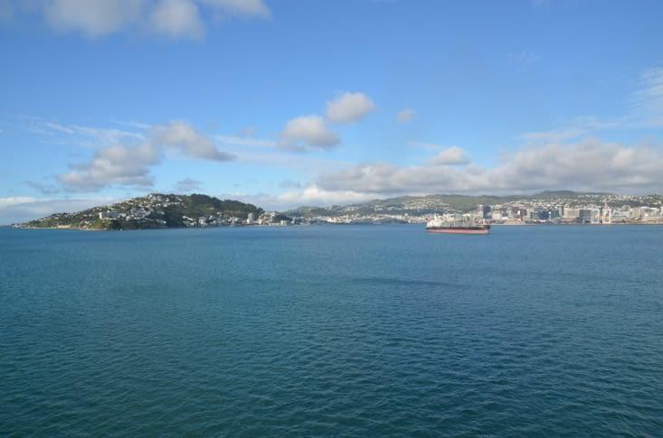 Wellington vue depuis la mer