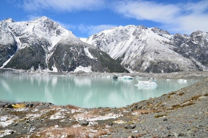 Les icebergs sur le lac Tasman