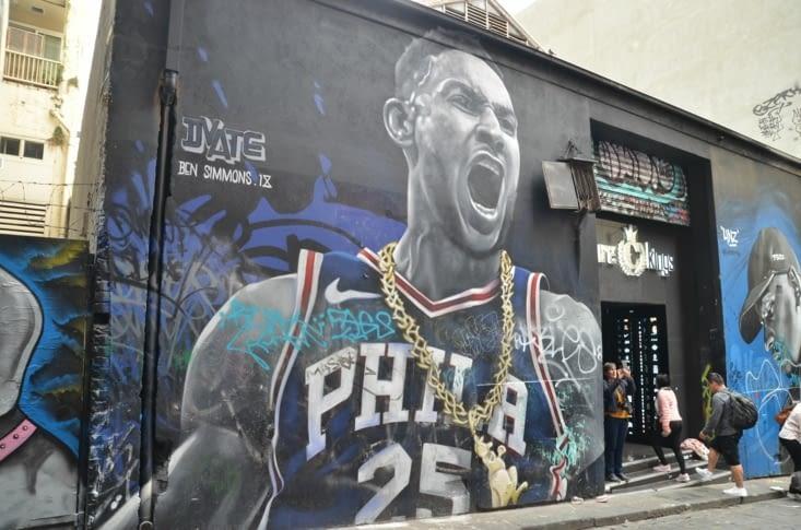 Mais aussi du street art sportif 🏀