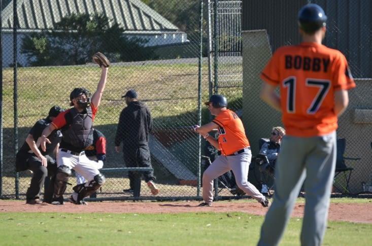 Baseball : le batteur et catcheur