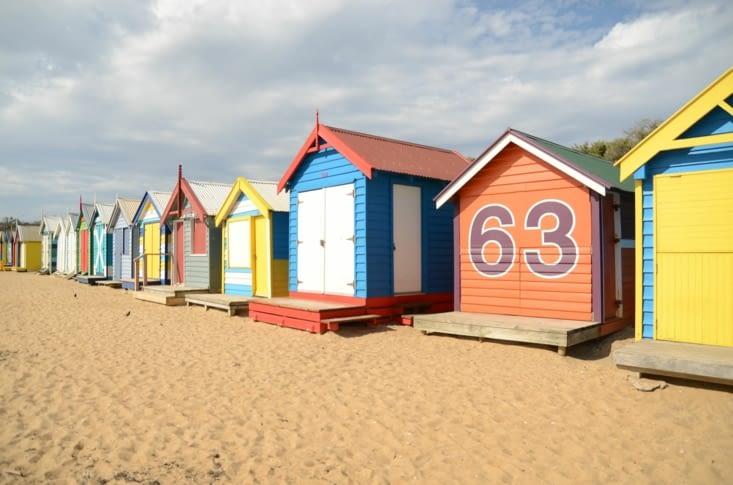 Quelques maisonnette de Brighton Beach