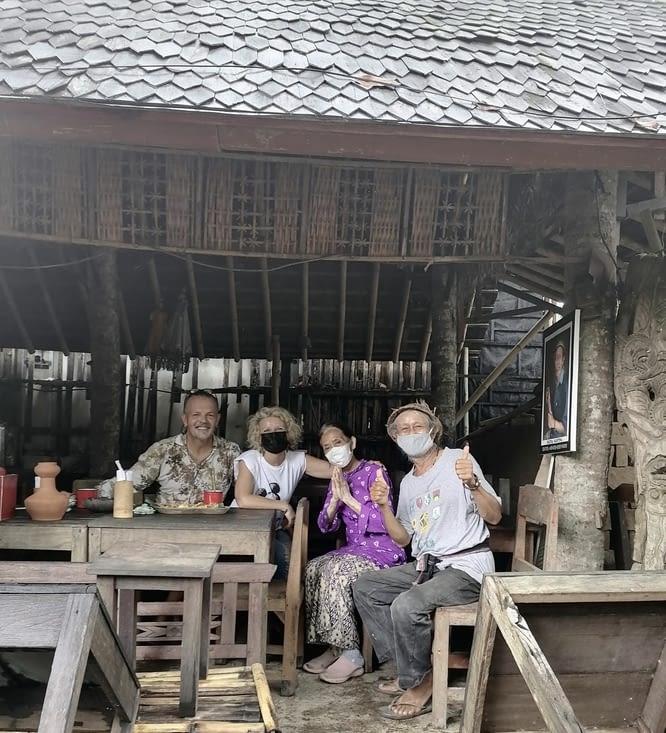 Les retrouvailles avec Putu Andy dans le warung de ses parents …