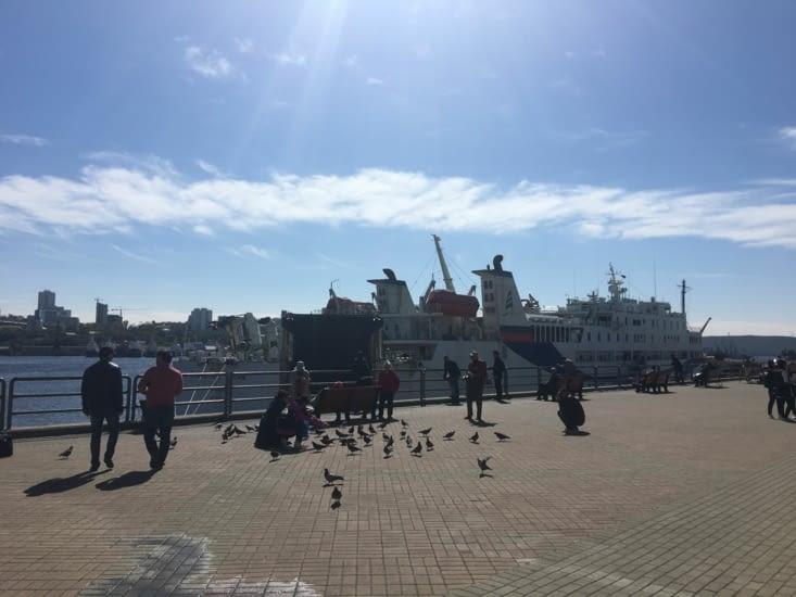 """C'est le départ vers le Japon ... avec notre """"big"""" ferry (3 jours)"""