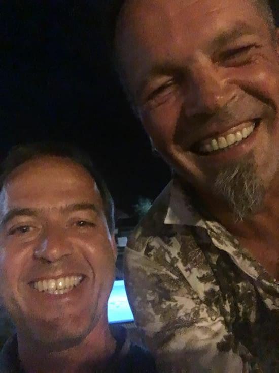 Un selfie entre un Français et un Allemand.....!!