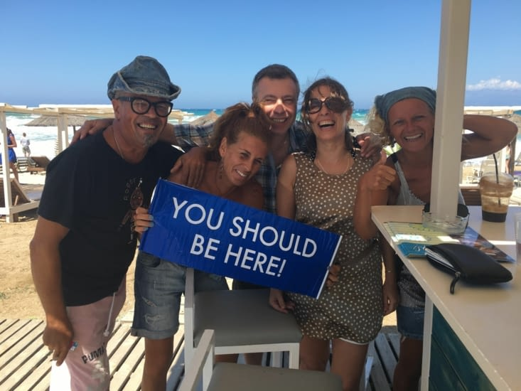 De nouveaux amis: Markis (Grec) & Sylvia (Espagnole)... tellement drôle!!!