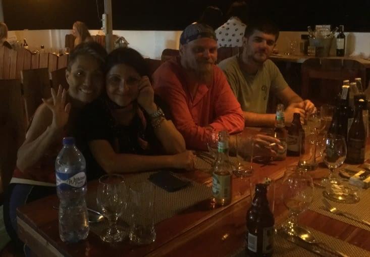 Mihai, Roxana (Roumanie) et Carolyne (Canada) durant quelques jours à Cebu