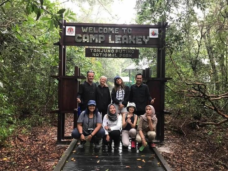 Toute l'équipe du trip de 3 jours pour découvrir les Orangs Outans
