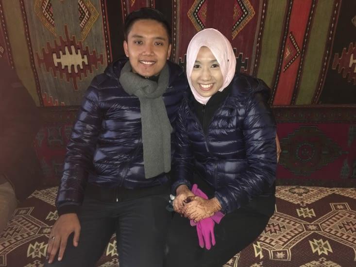 Un couple de Singapour .... Musulman .... qui était en voyage de noce .