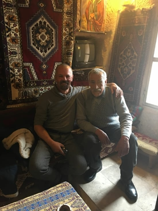 Notre ami Ismail .... qui nous a fait visiter sa maison troglodyte ! Magnifique