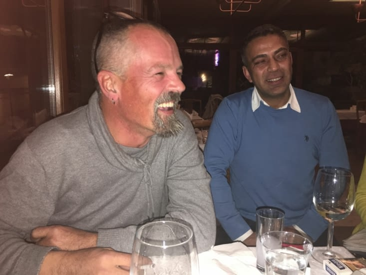 Muharrem  avec qui nous avons bien rigolé !!!! Raki aidant !