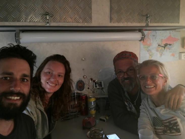Corentin (Français) et Julia (Neo-Zelandaise) avec nous 2 jours