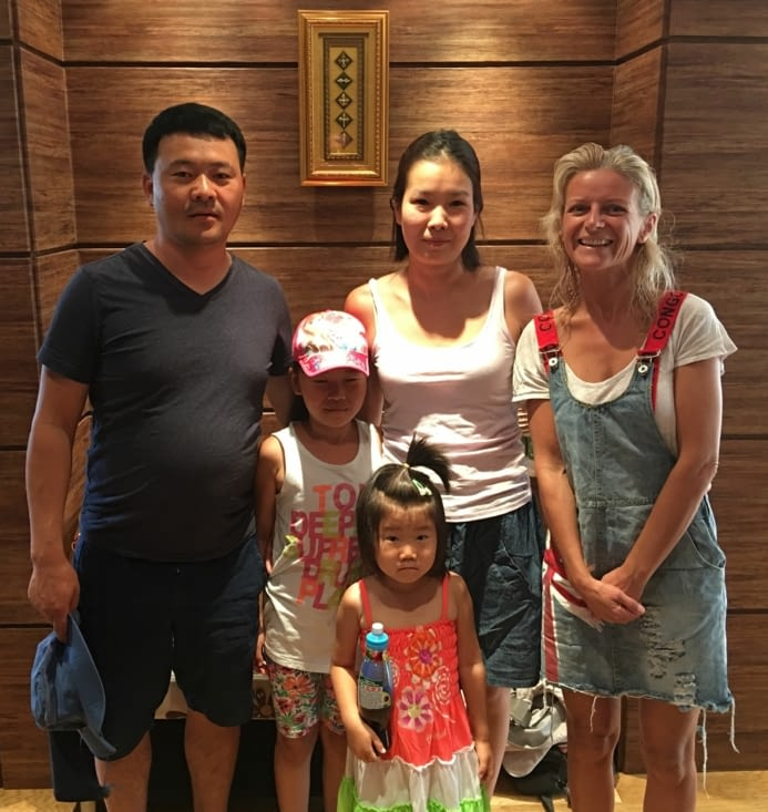 Batmunkh et toute sa famille