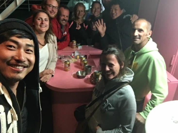 Sur le Ferry : Allemand, Français, Coréen .... du Sud !!!!