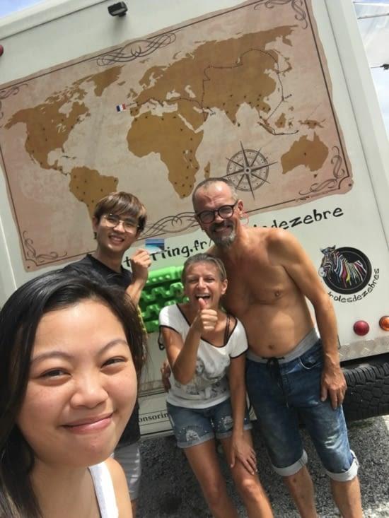 Un couple Chinois - Malais qui rêve de faire pareil que nous !
