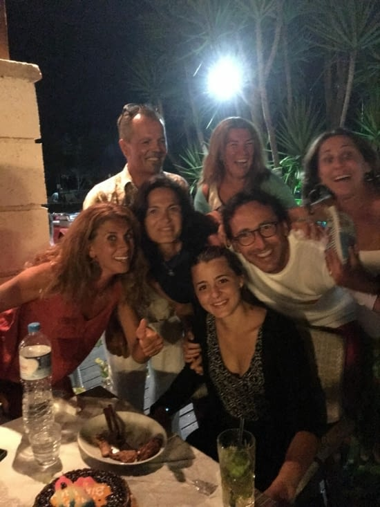 """Ana""""s birthday, German with her Greek mum. A beautiful evening in Greece & local barbecue"""
