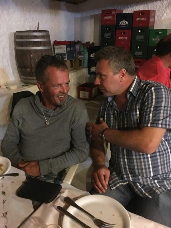 Markis (greek) tries to explain the origin of the Greek dances to me ...