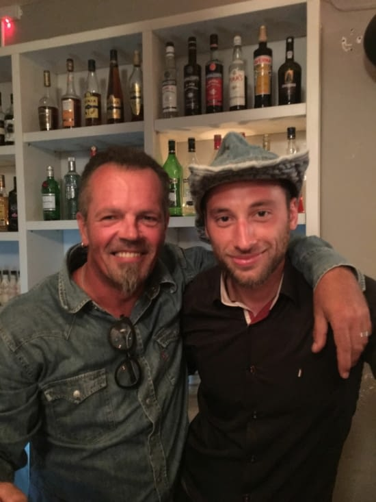 """The Greek Barman of the """"Ginger"""" bar"""