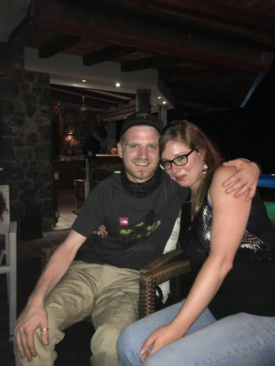 Même une rencontre avec un couple Belge flamand, qui a eu l'avantage de parler un peu Francais. Pour l'histoire, tellement ils aiment cette île depuis 4 ans, ils ont décidé de s'y marier en 2017 ...