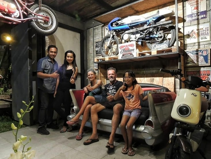 La maison de Diaz à Surabaya (Java) comme Philippe les aiment : Décalé, Industriel ....