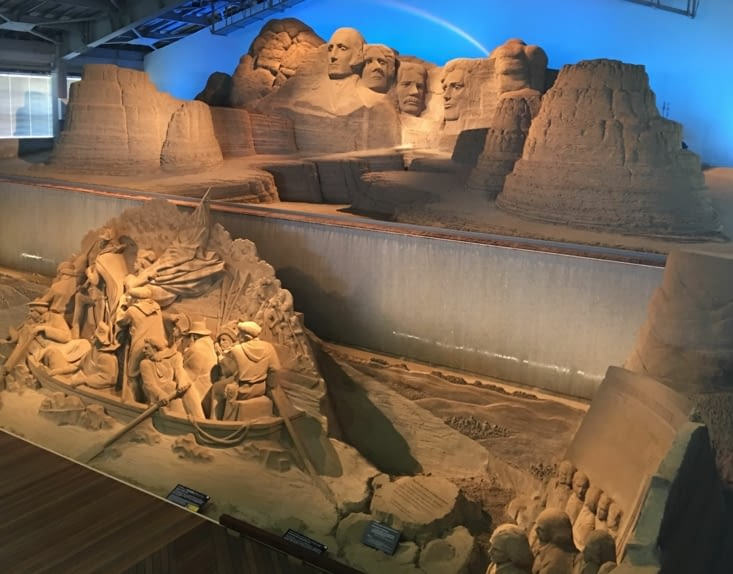 The sand museum in Tottori in Japan
