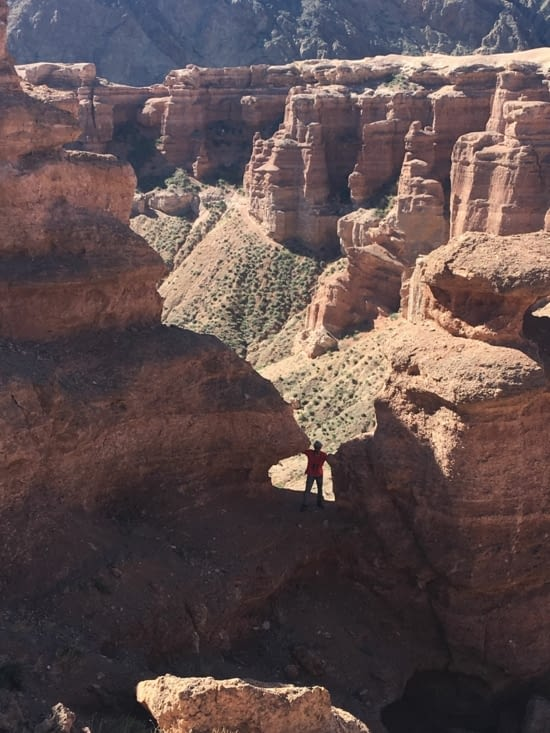 Cheryn canyon in Kazakhstan
