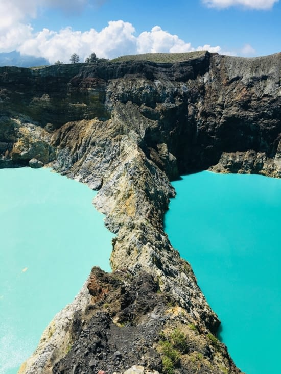 Les 3 lacs de Kelimutu à Florès en Indonesie