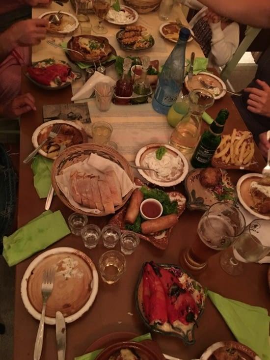 The Greek food
